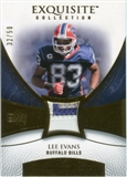 2007 Upper Deck Exquisite Collection Patch Gold #LE Lee Evans /50
