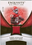 2007 Upper Deck Exquisite Collection Patch Gold #LJ Larry Johnson /50