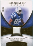 2007 Upper Deck Exquisite Collection Patch Gold #MH Marvin Harrison /50