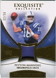 2007 Upper Deck Exquisite Collection Patch Gold #PM Peyton Manning /50
