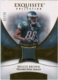 2007 Upper Deck Exquisite Collection Patch Gold #RB Reggie Brown /50