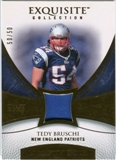 2007 Upper Deck Exquisite Collection Patch Gold #TE Tedy Bruschi /50