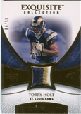 2007 Upper Deck Exquisite Collection Patch Gold #TH Torry Holt /50
