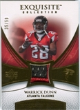2007 Upper Deck Exquisite Collection Patch Gold #WD Warrick Dunn 35/50
