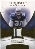 2007 Upper Deck Exquisite Collection Patch Gold #WR Roy Williams S /50