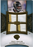 2007 Upper Deck Exquisite Collection Maximum Patch #FT Fred Taylor /25