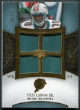 2007 Upper Deck Exquisite Collection Maximum Patch #TG Ted Ginn Jr. /25