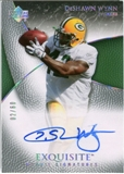 2007 Upper Deck Exquisite Collection Gold #73 DeShawn Wynn Autograph /60