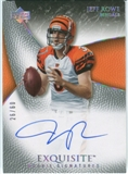 2007 Upper Deck Exquisite Collection Gold #80 Jeff Rowe Autograph /60