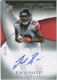 2007 Upper Deck Exquisite Collection Gold #90 Laurent Robinson Autograph /60