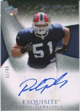 2007 Upper Deck Exquisite Collection Gold #96 Paul Posluszny Autograph /60