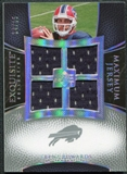 2007 Upper Deck Exquisite Collection Maximum Jersey Silver Spectrum #TE Trent Edwards /15