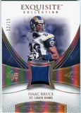 2007 Upper Deck Exquisite Collection Patch Spectrum #IB Isaac Bruce 12/15