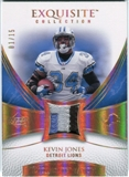 2007 Upper Deck Exquisite Collection Patch Spectrum #KJ Kevin Jones /15
