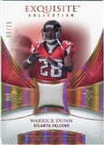 2007 Upper Deck Exquisite Collection Patch Spectrum #WD Warrick Dunn 06/15