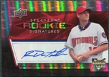 2008 Upper Deck Spectrum #137 Ross Detwiler Autograph