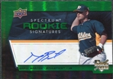 2008 Upper Deck Spectrum Green #111 Daric Barton RC Autograph