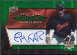 2008 Upper Deck Spectrum Green #115 Eugenio Velez Autograph