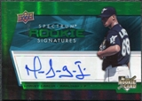 2008 Upper Deck Spectrum Green #117 Harvey Garcia Autograph