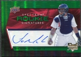 2008 Upper Deck Spectrum Green #126 Jose Morales Autograph