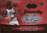 2007/08 Upper Deck Premier Noteworthy Gold #NWBG Ben Gordon Autograph /25