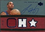 2007/08 Upper Deck Premier Remnants Triple Autographs #LH Larry Hughes /50