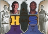 2007/08 Upper Deck SP Rookie Threads Dual #SH Spencer Hawes Rodney Stuckey