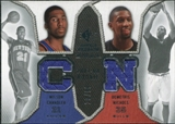2007/08 Upper Deck SP Rookie Threads Dual Parallel #NC Wilson Chandler Demetris Nichols /99