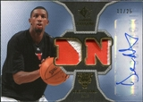 2007/08 Upper Deck SP Rookie Threads Patch Autographs #RTDN Demetris Nichols /25