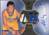 2007/08 Upper Deck SP Rookie Threads Patch Autographs #RTHA Adam Haluska /25