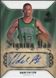 2007/08 Upper Deck SP Rookie Threads Signing Day #SDGP Gabe Pruitt Autograph