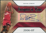 2007/08 Upper Deck SP Rookie Threads Scripted in Time #DG Daniel Gibson Autograph