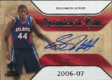 2007/08 Upper Deck SP Rookie Threads Scripted in Time #SJ Solomon Jones Autograph