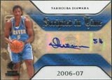 2007/08 Upper Deck SP Rookie Threads Scripted in Time #YD Yakhouba Diawara Autograph