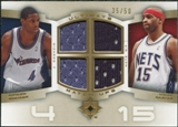 2007/08 Upper Deck Ultimate Collection Matchups Gold #CJ Vince Carter Antawn Jamison /50