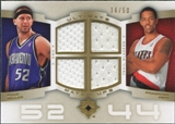 2007/08 Upper Deck Ultimate Collection Matchups Gold #MF Brad Miller Channing Frye /50