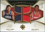 2007/08 Upper Deck Ultimate Collection Rookie Matchups Gold #AB Morris Almond Aaron Brooks /50
