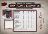 2008 Upper Deck UD A Piece of History Box Score Memories Jersey #BSM2 Stephen Drew