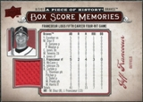 2008 Upper Deck UD A Piece of History Box Score Memories Jersey #BSM5 Jeff Francoeur