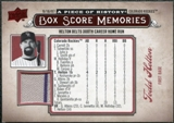 2008 Upper Deck UD A Piece of History Box Score Memories Jersey #BSM19 Todd Helton