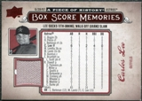 2008 Upper Deck UD A Piece of History Box Score Memories Jersey #BSM27 Carlos Lee