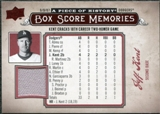 2008 Upper Deck UD A Piece of History Box Score Memories Jersey #BSM31 Jeff Kent