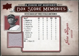 2008 Upper Deck UD A Piece of History Box Score Memories Jersey #BSM38 Jose Reyes