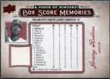 2008 Upper Deck UD A Piece of History Box Score Memories Jersey #BSM45 Jimmy Rollins