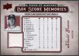 2008 Upper Deck UD A Piece of History Box Score Memories Jersey #BSM47 Khalil Greene