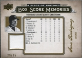 2008 Upper Deck UD A Piece of History Box Score Memories Jersey Gold #BSM21 Ivan Rodriguez /75
