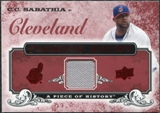 2008 Upper Deck UD A Piece of History Franchise History Jersey #FH15 C.C. Sabathia