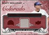 2008 Upper Deck UD A Piece of History Franchise History Jersey #FH18 Matt Holliday