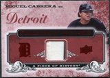 2008 Upper Deck UD A Piece of History Franchise History Jersey #FH22 Miguel Cabrera