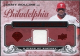 2008 Upper Deck UD A Piece of History Franchise History Jersey #FH40 Jimmy Rollins
